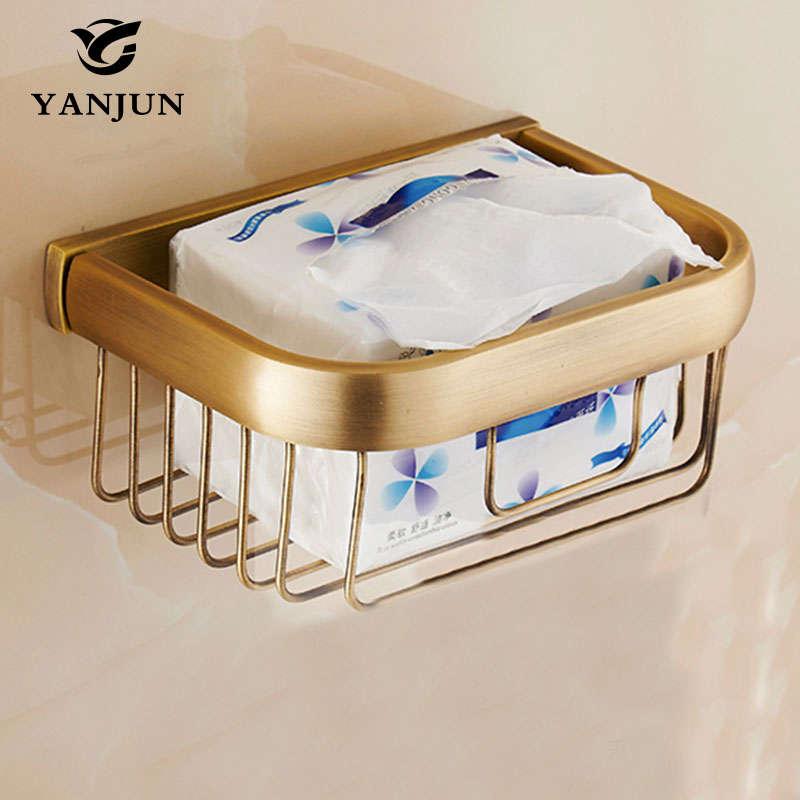 Yanjun brass chrome plated bath towel holder basket - Chrome plated brass bathroom accessories ...