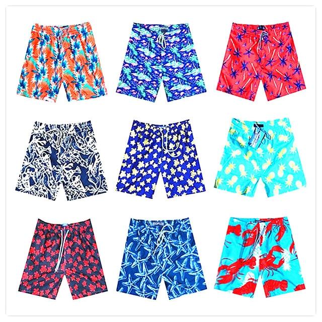 2e43d62326 2018 BREVILE PULLQUIN Beach Board Short Men Turtle Pineapple Red Shrimp Man Boardshorts  Swimwear Sexy Elastic