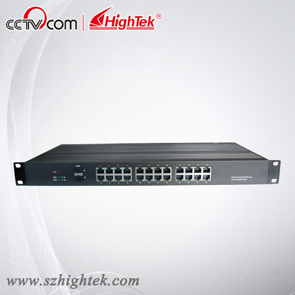 все цены на  HighTek HK-85224 Un-management Industrial 2 port fiber optic SFP and 24 port Ethernet Switch  онлайн