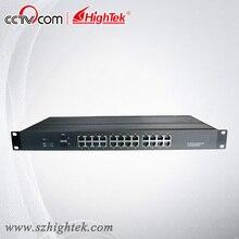 HighTek HK-85224 Оон-управления Промышленные 2 порта волоконно-оптических SFP и 24 порта Ethernet Коммутатор