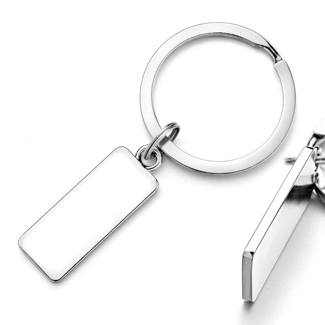 Custom Engraved Keychain For Car Logo Name Stainless Steel Personalized Gift Customized Anti-lost Keyring Key Chain Ring P009 2