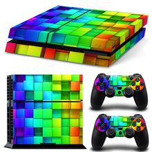 Red Fire PS4 Skin For Play Station 4 Sticker Decal Cover + 2 Controller Stickers PS4 Accessories
