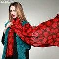 Chal de lana de 100 cm X 200 cm Invierno Cálido Abrigo Del Mantón de Las Mujeres Más El Tamaño de La Moda de Nueva Desigual Venta Directa de la Fábrica envío Gratis
