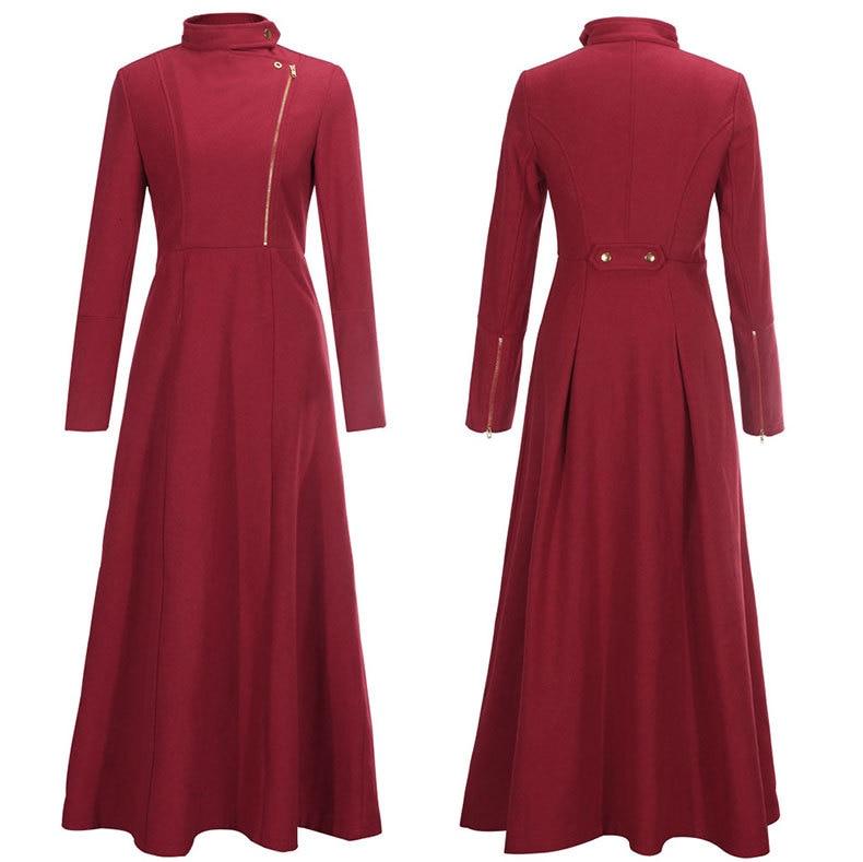 Sinofashion European high grade wool cashmere dress coat ...