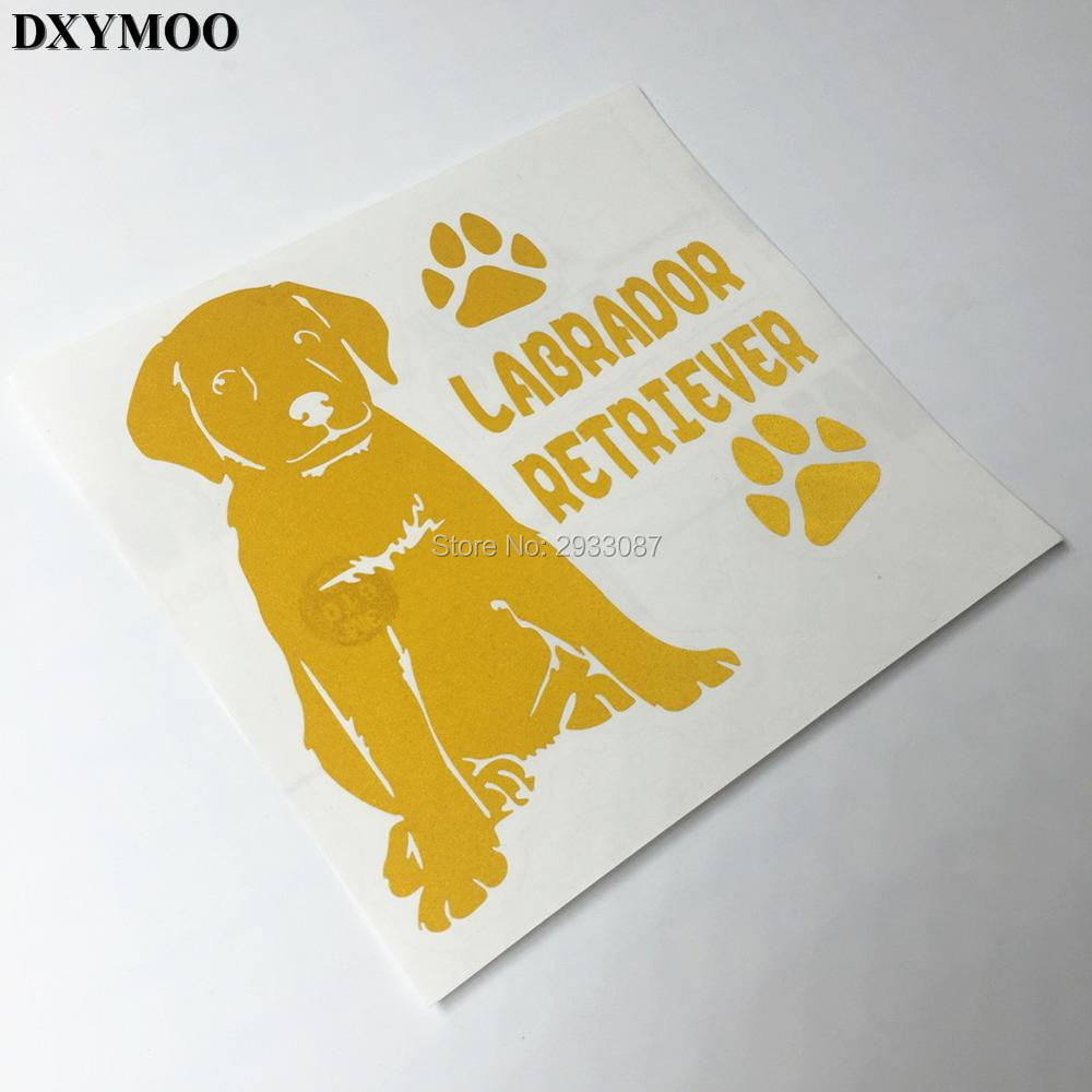 3M Animal Dog Pet LABRADOR RETRIEVER Car Sticker Window Fish Tank Decal Vinyl Tape H3149 high quality alaskan malamute retriever vinyl window dog decal sticker for car suv body