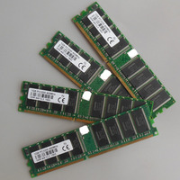 4GB 4x1GB PC3200 400MHZ 184pins Low Density Desktop Memory 2Rx8 CL3 DIMM 4G RAM For Dell