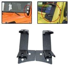 Pair A pillar Bar Holder Mounting Brackets For 07 18 Jeep Wrangler JK 2 Door 4DR Dual Work Light