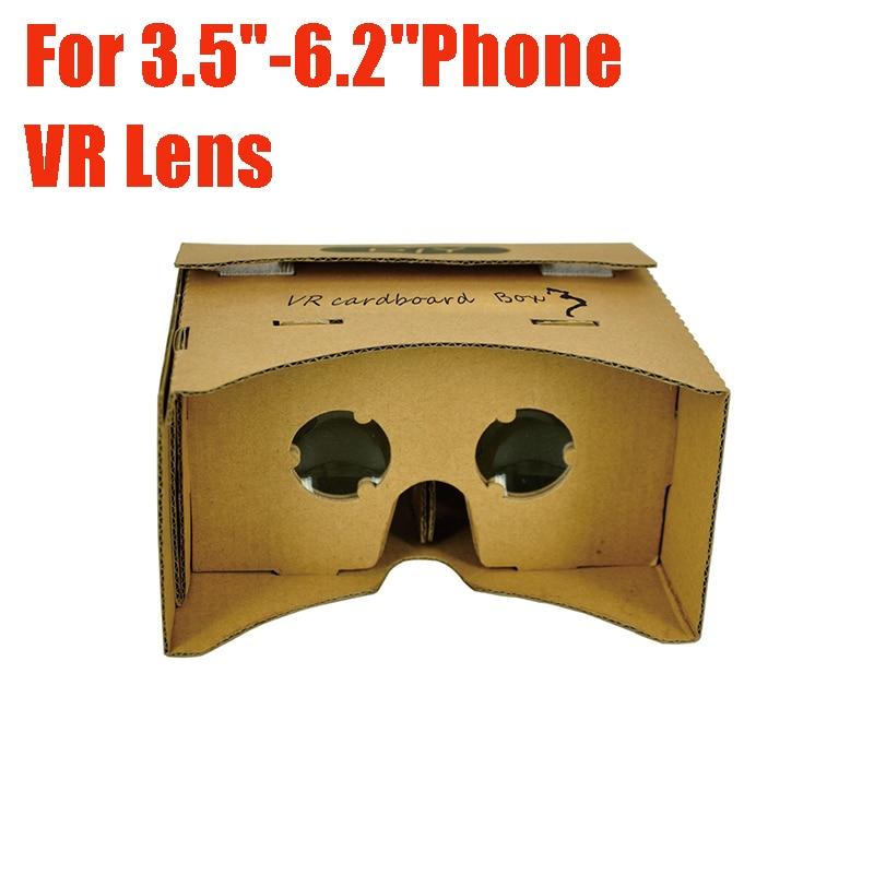 100% Original <font><b>VR</b></font> <font><b>DIY</b></font> Paper Polarized <font><b>Cardboard</b></font> <font><b>Box</b></font> 3D <font><b>Glasses</b></font> Virtual Reality Support <font><b>3</b></font>.5''-6.2'' Android for iPhone IOS Phone