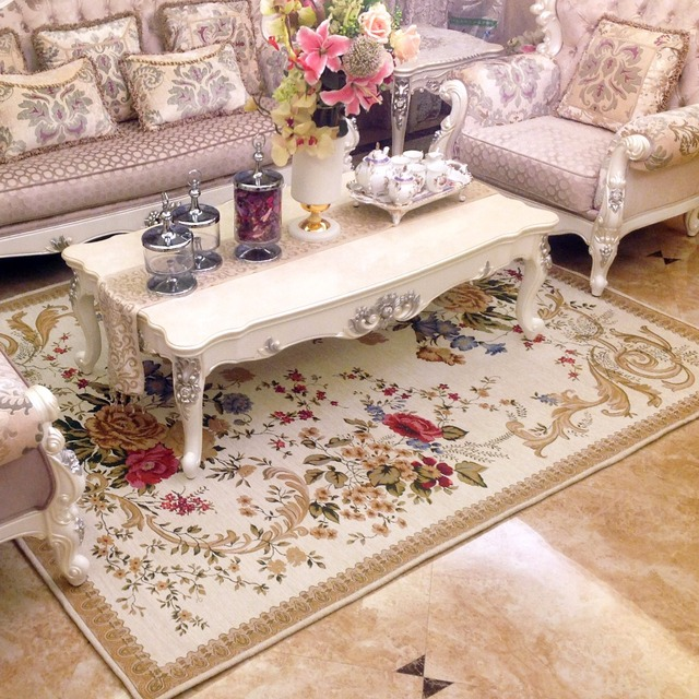 Large British Countryside Carpets For Living Room Flower Home Decor Bedroom  Carpet Sofa Coffee Table Rug