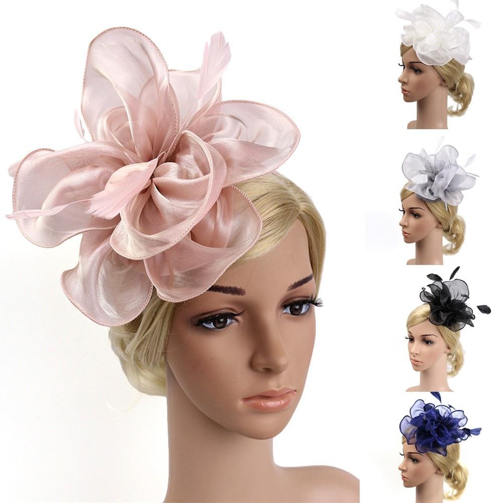 2018 Frauen Haar Accessoires Fascinator Feder Hut Headear Mesh Schleier Feder Fascinator Haarnadel Französisch Hut Clips Partei
