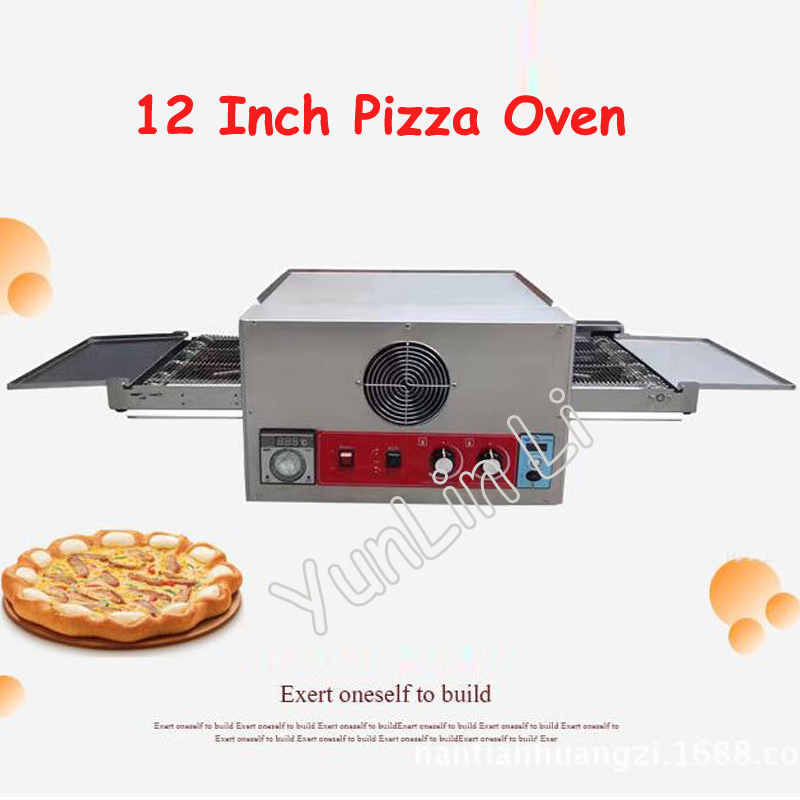 Convoyeur électrique Pizza four Commercial 12 pouces Pizza four 220V grand distributeur gâteau pain Pizza faisant la Machine CH-FEP-12