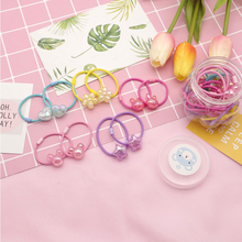Summer New Color Childrens Rubber Band Ice Cracked Beads Soft Cute High Elastic Girl Hair Rope Fresh Ring
