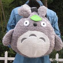 цены Kawaii Totoro Plush Backpack 15inch totoro Plush Bag for Girls Soft Plush Toys Kids Birthday Gift Christmas handbag