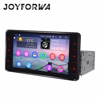 Joyforwa Android 6.0 car radio LCD Touch Screen single din audio stereo GPS Navigation BT universal Car Multimedia radio player