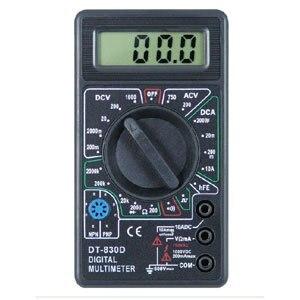 DT830D Digital Multimeter AC/DC OHM Voltmeter with BUZZER, Digital Meter #030021