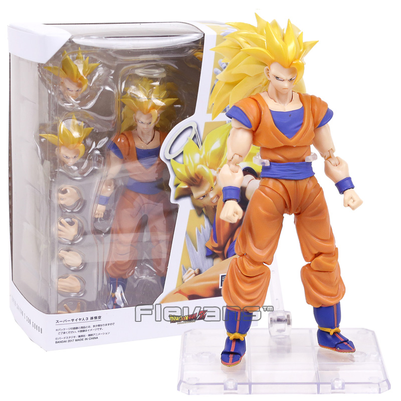 SHF SHFiguarts Dragon Ball Z Super Saiyan 3 Son Goku PVC Action Figure Collectible Model Toy with Retail Box