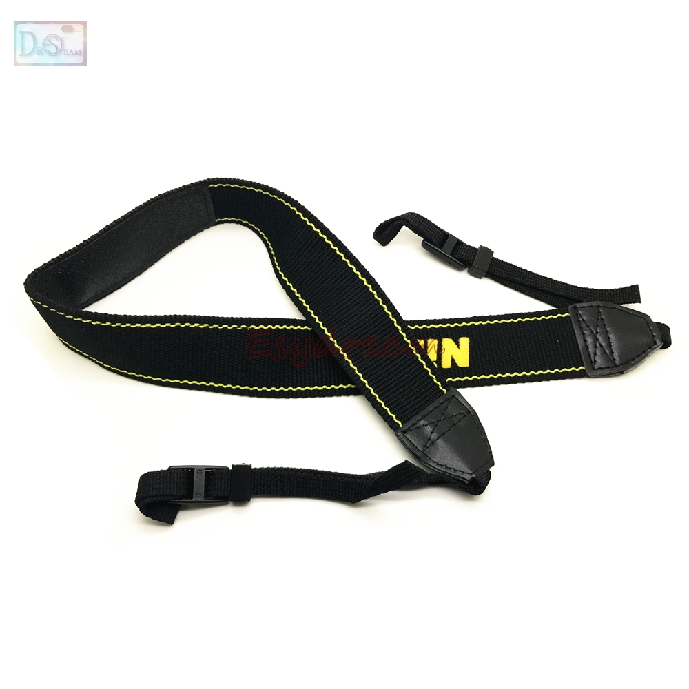Nylon Shoulder Neck Strap for Nikon D750 D610 D90 D7500 D7200 D7100 D7000 D5500 D5300 D5200 D5100 D3400 D3300 D3200 D3100 Camera 2 5mm remote shutter release cable connecting for nikon df d750 d7100 d5500 d5300 d3200 d3300 d600 d610 d90 as 3n n3 dc2 cable m