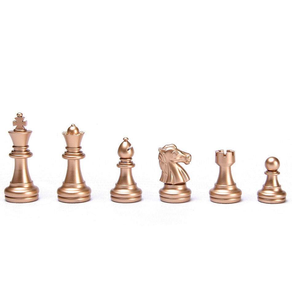 Gold Chess Pieces Us 14 99 Gold Sliver Magnetic Chess Pieces Set Staunton Style Chessmen Collection Portable Folding Board Chesses Game In Chess Sets From Sports