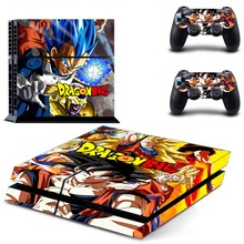 New PS4 Skin Sticker For PlayStation 4 Console and 2 Controllers PS4 Skin Sticker Vinyl Decal – Dragon Ball Z Super Goku Vegeta
