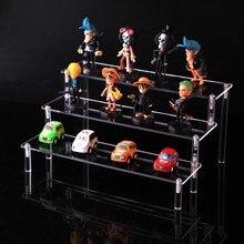 Прозрачная акриловая косметичка стеллаж для хранения Съемная персонажа из мультфильма лестница рамки держатель игрушка модель автомобиля кошелек духи дисплей стенд