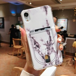 For Iphone 8 8plus X XR XS Max Marble Credit card case Iphone 6  Case for Iphone 7 7Plus Cover Soft TPU Silicone Phone case 6