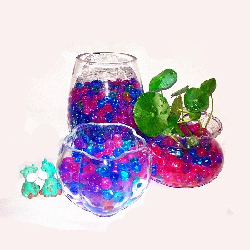 Лидер продаж, гидрогелевые жемчужные бусины в форме кристалла для почвы, водяные бусины, био-гель, волшебный Желейный шарик для выращивания ...