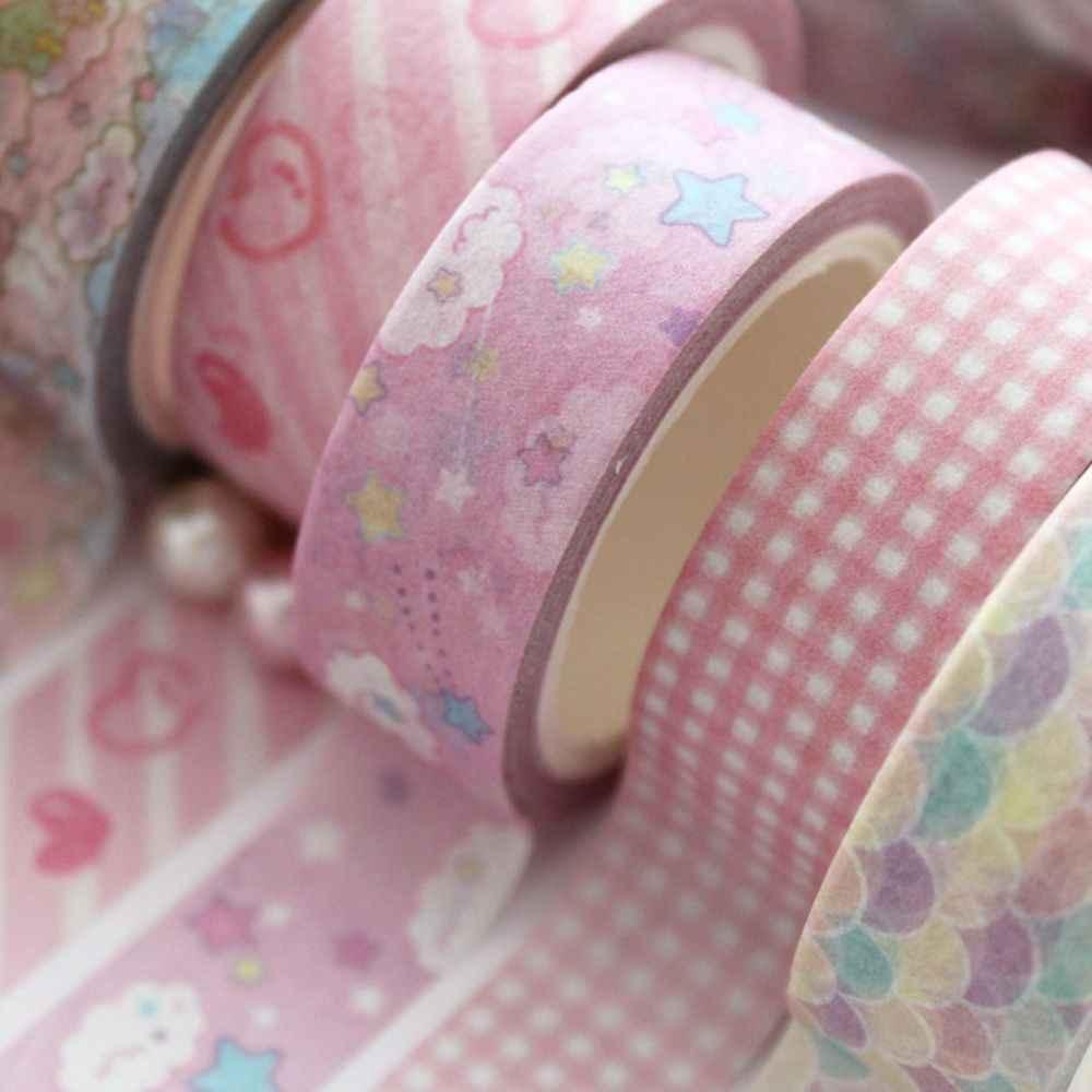 1.5 cm de large belle rose licorne ciel bande dessinée Washi ruban adhésif bricolage Scrapbooking autocollant étiquette ruban de masquage fournitures scolaires