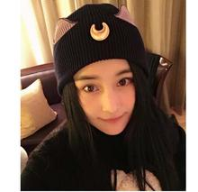 Women Hat Anime Sailor Moon Cap Cosplay Costume PropsKnitted Fashion Autumn Winter Keep Warm