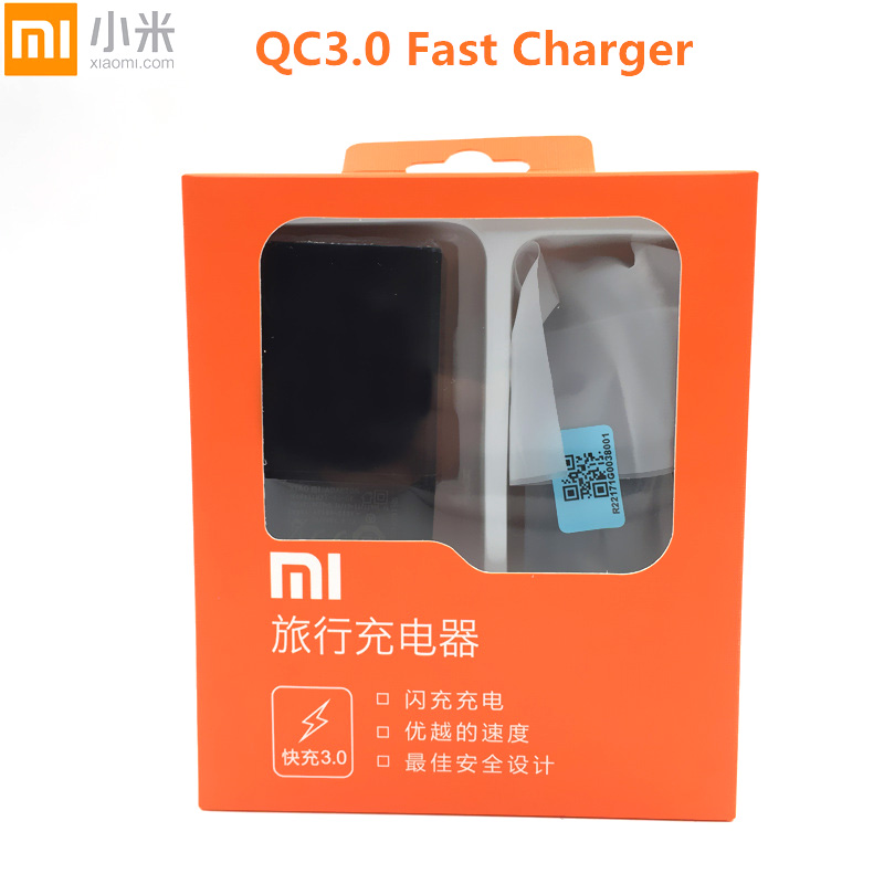 Original Xiaomi QC 3.0 Fast quick Charger charge EU Adapter + Type C Data Cable for mi 5 Mi5 5x Note2 A1 Note 3 mi5s