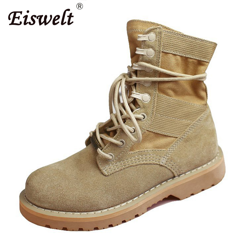 EISWELT Footwear Women's Boots Ankle Boots Female Leather Boots Heels Shoes Lace Up Women Outdoor Autumn Winter Boots#ZQS229 spring autumn boots women soft footwear classic boots female comfortable outdoor shoes aa20131