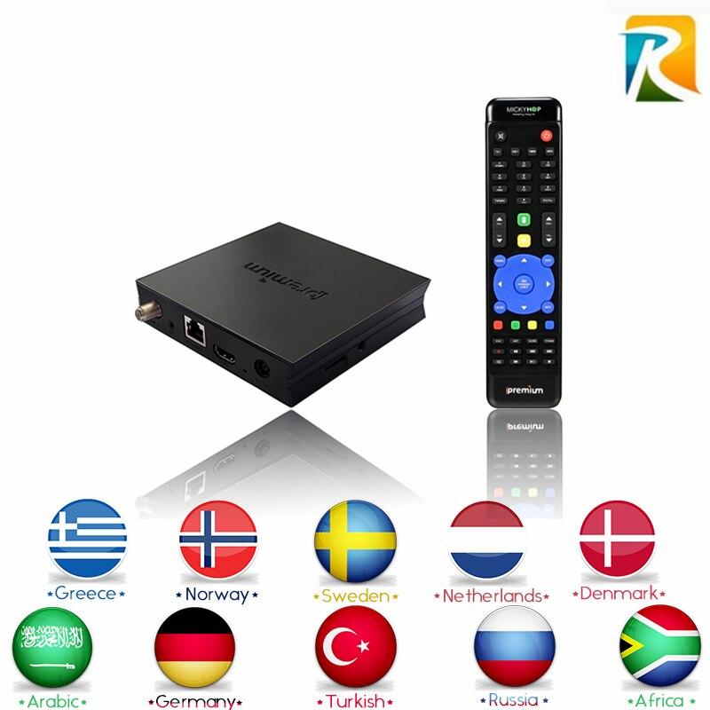 I7 Ipremium IPTV árabe Caja Androide de la TV IPTV Real Suecia Turquía Kurdos Sc
