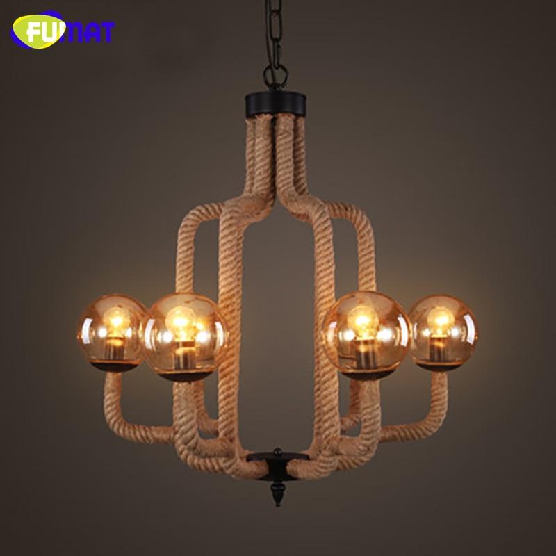 Intellective Fumat Vintage Rope Chandelier Lighting Fixture American Country Living Room Lamps Nordic Retro Art Suspension Lights Lights & Lighting
