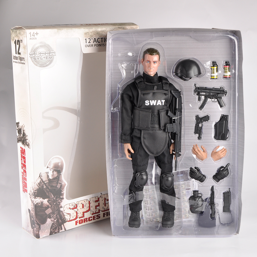12 Inches Swat SDU Seals Action Figures with Military Uniforms Full Set Soldier Figures Army Combat Games Toys Models Gifts multi 12 1 6 accessories uniform action figure model toy military army combat game toys soldier set with retail box child gift
