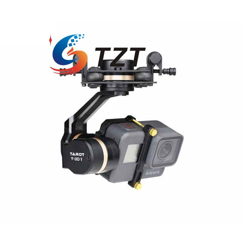 Tarot 3D IV 3-Axis Stablizer Metal Brushless Gimbal PTZ Camera for Gopro Hero5 TL3T05 tarot tl3t05 for gopro 3div metal 3 axis brushless gimbal ptz for gopro hero 5 for fpv system action sport camera nwz