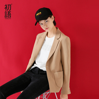 Toyouth Single Button Office Lady Blazers 2018 New Autumn Winter Slim Turn Down Collar Jackets Suit Women Cotton Workwear Blazer