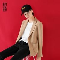 Toyouth Single Button Office Lady Blazers 2018 New Autumn Winter Slim Turn Down Collar Jackets Suit Women Cotton Workwear Blazer
