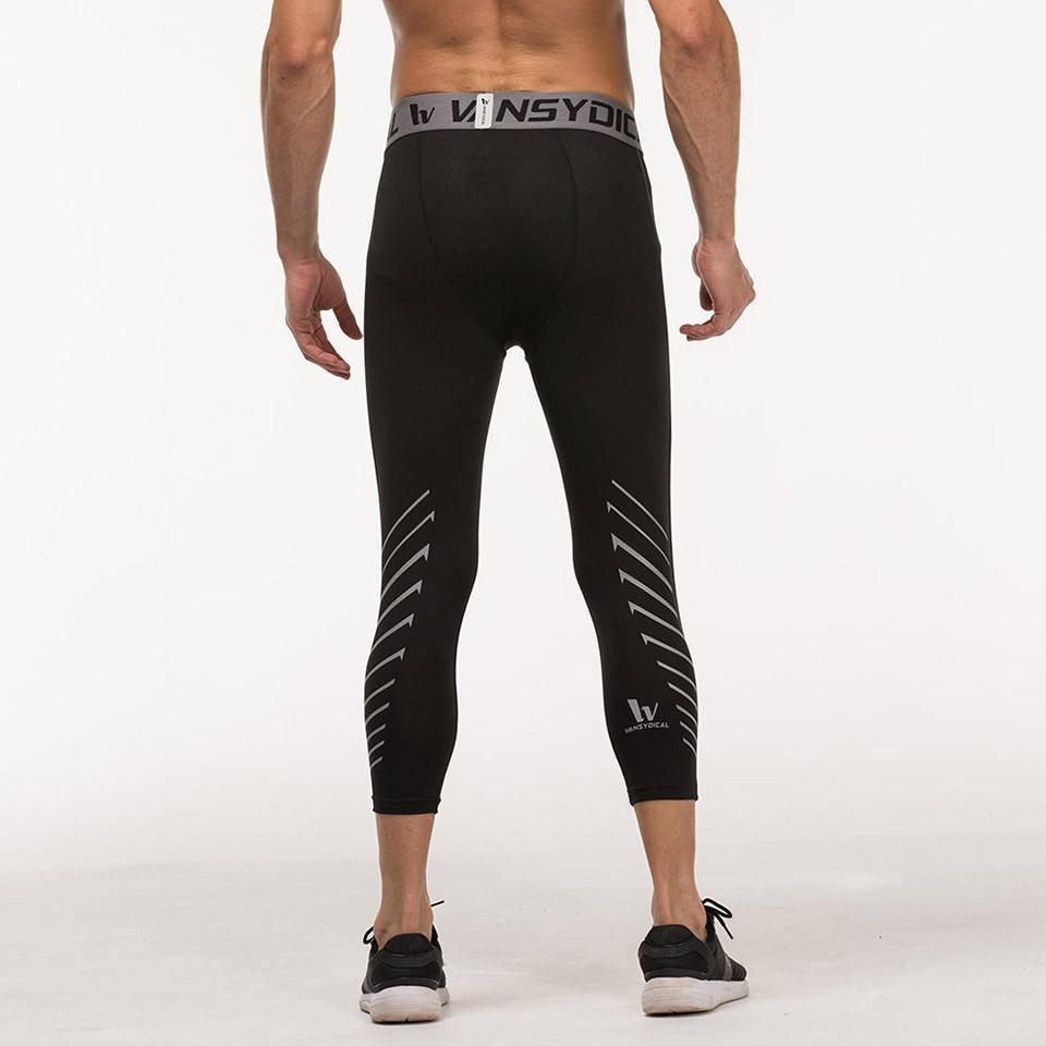 88e2b59008c971 Men's Compression Capri Leggings 3/4 Training pants Cool Three quarter  Joggers Running Workout Gym Tights Sportswear-in Running Socks from Sports  ...