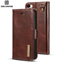 Case For Iphone 5 5s SE DG MING 2 In 1 Luxury Leather Detachable Flip Wallet