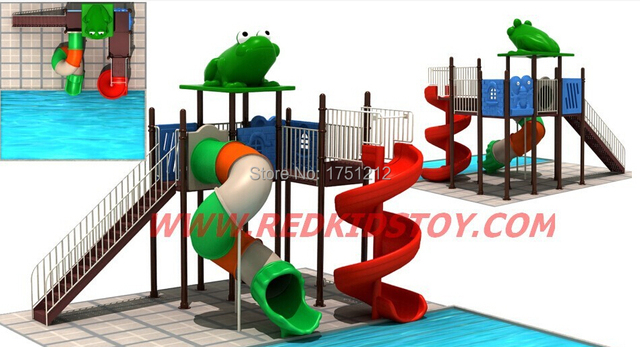 US $4405.0 |2015 Galvanized Steel Anti rust Swimming Pool Slide/Water  Outdoor Slide/Water Play Equipment CE Certificated-in Water Play Equipment  from ...