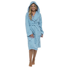 Night gown Women Winter Plush Lengthened Shawl Bathrobe Home Clothes Leisure Solid Long Sleeved Robe Coat