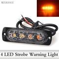 12V-24V 4Led Strobe Police Warning Light Strobe Grille Flashing Lightbar Truck Car Beacon Lamp Amber Red Blue Traffic light