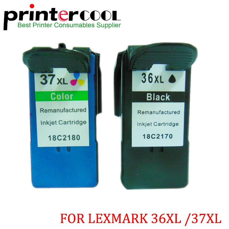Einkshop2PK 36xl 37xl Ink Cartridge For Lexmark36XL 37XL Lexmark X3630 X4630 X3650 X4650 X5650 X6650 X6675 Z2420 Z2400 Z2410