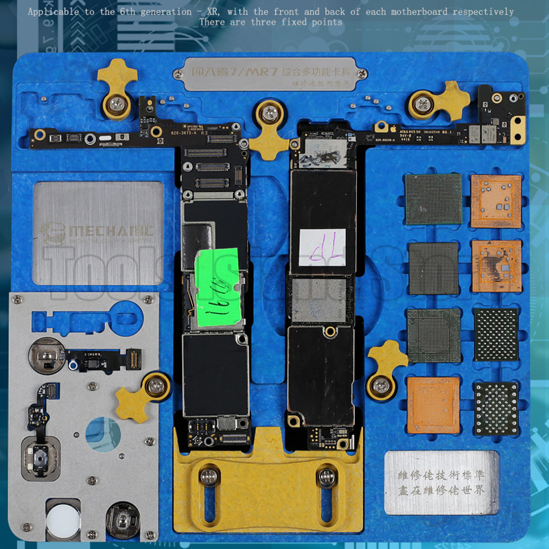 MECHANIC Double-layer Fixture For IPhone A7 A8 A9 A10 A11 A12 NAND PCIE Motherboard Fingerprint CPU Chip Remove Glue Repair