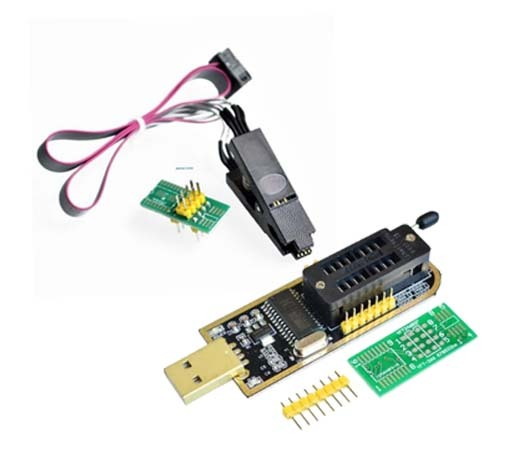 SOIC8 SOP8 Test Clip For EEPROM 93CXX / 25CXX / 24CXX + CH341A 24 25 Series EEPROM Flash BIOS USB Programmer Module