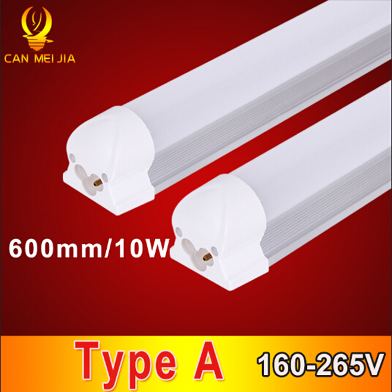 High Power T8 Tube Led 600mm Tube Lamp 9W 10W 2ft 3ft T8 Led Tube Light 600mm 220V Led Tube Fixture For Home Lighting led t8 integrated tube 10w 600mm 110v 220v 85 265v transparent clear cover milky cover free ship 2ft white warm white smd2835
