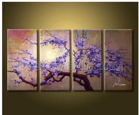 Huge Art Handmade Cherry Blossom Landscape Flowers Tree ...