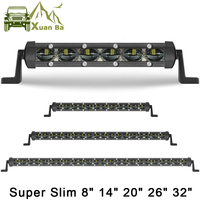 Super Slim 150W 32 Inch 6D Lens Led Work Bar Light 4x4 Offroad For Car Jeep ATV SUV 4WD Motorcycle Flood Beams Driving Lights