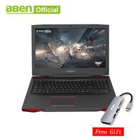 Bben G17 17.3 pro windows 10 Gaming laptop NVIDIA GTX1060 GDDR5 Computer intel 7th gen i7 7700HQ DDR4 8GB/16GB/32GB RAM M.2 SS