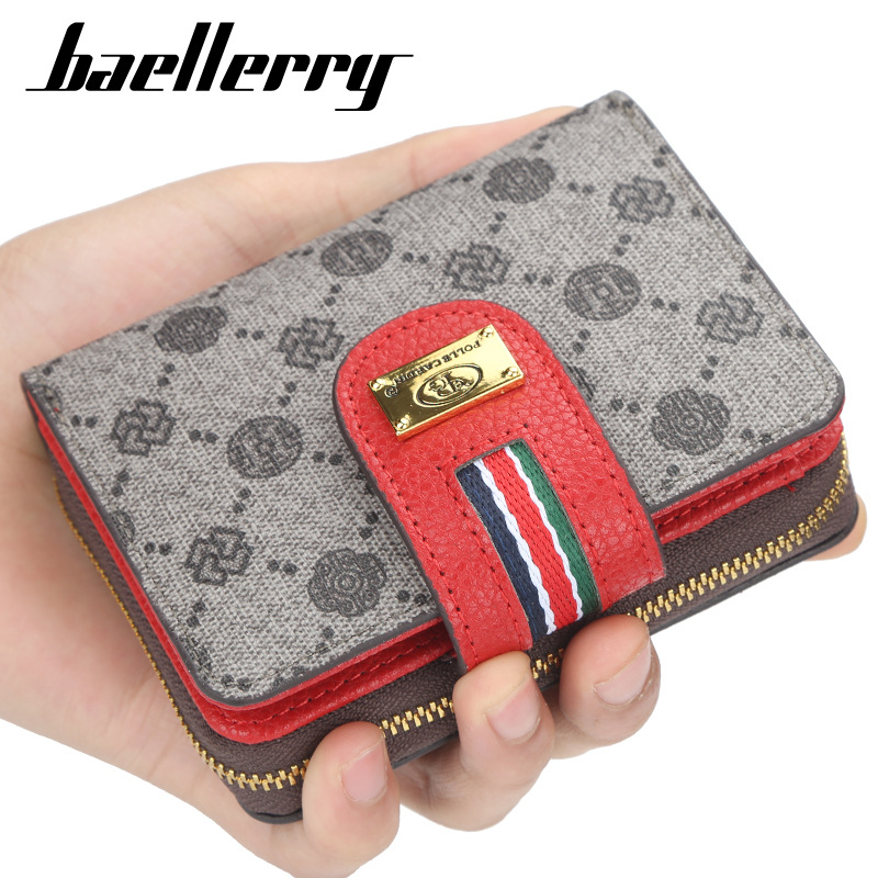 Luxury Brand Fashion Women Wallets Leather Card Holder Clutch Wallet Classic Hasp Purse Female Zipper Wallet With Coin Pocket