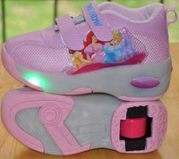 NEW Children Wheels Shoes With LED Lighted Roller Skates Fashion Kids Sneakers Boy Girls Cartoon Roller